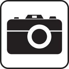 fototoestel. Camera silhouette.
