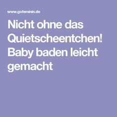 Nicht ohne das Quietscheentchen! Baby baden leicht gemacht