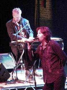 @Rachel Burns Manzarek and Robby Krieger of The Doors #raymanzerek #robbykrieger #thedoors #concert at #congresstheater #chicago