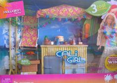 2005 Mattel Barbie Cali Girl Hawaiian Vacation BBQ Party Tiki Bar MIB for sale online Baby Barbie, Barbie Sets, Barbie Princess, Mattel Barbie, Barbie And Ken, Barbie Dolls, Girl Barbie, Barbie Stuff, Vintage Barbie