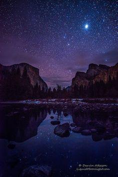 Yosemite Valley by Starlight, California