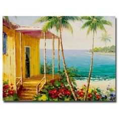 @Overstock - Bring the warmth of the tropics into your home with this colorful canvas art print by Rio. Titled 'Key West Villa,' this contemporary composition was printed using giclee printing techniques to bring out the vibrant colors, and it comes ready to hang.http://www.overstock.com/Home-Garden/Rio-Key-West-Villa-Canvas-Art/6425411/product.html?CID=214117 $76.59