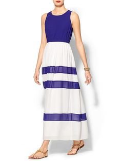 Pin for Later: Diese 11 Kleider aus Piperlimes Frühlings-Sale sind ein Muss Wells Grace Colorblock Maxi Kleid Wells Grace Audrey Striped Maxi Dress ($89)