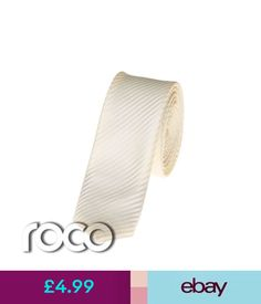 803d4fc6aad7 Boys' Accessories Boys Ivory Ties, Ivory Striped Ties, Boys Skinny Ties,  Boys