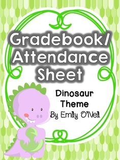 grade book and attendance sheets owl theme attendance