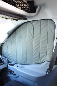 Insulated window covers for the conversion of a motorhome Insulated Window Covers for Camper Van Conversion Ford Transit Conversion, Camper Van Conversion Diy, Van Conversion Products, Volkswagen Routan, Vw T5, Benz Sprinter, Rideaux Camping-car, Motorhome, Bugatti