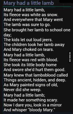 "Marry ""had"" a little lamb"