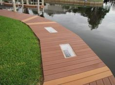 TanDeck Decking with viewing glass Shoreline Lumber Pvc Decking, Cottage, Glass, Outdoor Decor, House, Ideas, Home Decor, Decoration Home, Drinkware