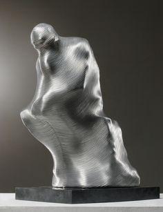 Auguste Rodin Thinker 20X30X38mm.aluminum wire. fiberglass.lifecasting2005 © 2012 SeungMoPark.com, All rights reserved