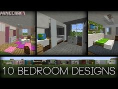 Minecraft - 10 Bedroom Designs! (Plus tips!) - YouTube