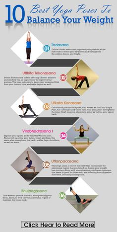 With these easy-to-do asanas from yoga for balancing weight, not putting weight again gets easier.