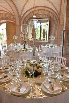 Allestimento per matrimonio Villa Passerini. Preludio Noleggio, attrezzature per catering eventi. Wedding table setting for your wedding in Italy.