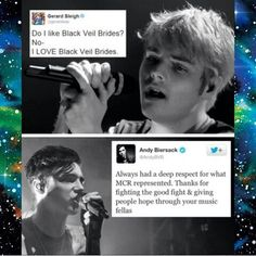 I love it when band members/bands respect each other