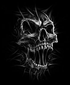 "unusual sky drawing: ""DEATH Skull"" by Adrian Balderrama Evil Skull Tattoo, Skull Tattoo Design, Skull Design, Skull Tattoos, Sleeve Tattoos, Biker Tattoos, Totenkopf Tattoos, Panzer Tattoo, Airbrush Art"