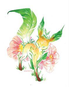 Eeveelutions+flowers