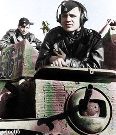 Panzer IV No. 636 of the The 12th SS Panzer Division Hitlerjugend. Loader Sturmann Georg Fugunt and (In Front) Radio Operator Sturmann Erich Moro