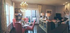 Love the division of dining and living room | Hadley's Cozy Condo in Boston | Small Cool Contest