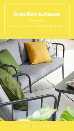Getreu dem Motto: #draußenzuhause stellen wir euch nützliche Tipps, inspirierende Ideen, leckere Rezepte und schöne DIY's vor.   Garten Balkon einrichten Trends 2021 Outdoor Draußenzimmer Outdoorwohnzimmer Gartenmöbel Balkonmöbel Terrasse Gardening Garden Gartentrends Garteninspiration Dekoideen Idee Design dekorieren Sommer Möbel Outdoormöbel modern balcony Motto, Gardening, Inspiration, Trends, Modern, Outdoor, Design, Patio, Decorating
