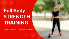 🔥25 MIN FULL BODY STRENGTH TRAINING🔥FULL BODY WORKOUT WITH WEIGHTS🔥2 KETTLEBELLS/DUMBBELLS WORKOUT🔥 - YouTube Total Body, Full Body, Kettlebells, Dumbbell Workout, Burpees, Strength Training, Weights, Exercises, Youtube