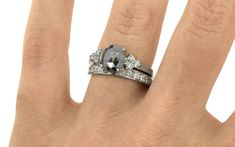 d1977bf2a930 1.22 Carat Natural Black Diamond Ring In White Gold