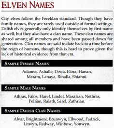 Canon naming practices in Ferelden (From the Dragon Age Table Top