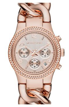 Michael Kors 'Runway' Chain Bracelet Watch, 38mm