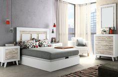 Dormitorio cabecero plafones y canapé soul blanco vintage
