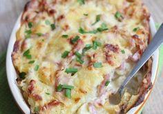 Bloemkool ovenschotel met ham - HandigeRecepten.nl Soap Recipes, Quiche, Mashed Potatoes, Oven, Breakfast, Ethnic Recipes, Food, Comfy, Veggie Bake