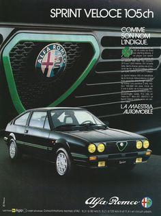 Alfa Romeo Sprint Véloce Pub. sport-auto 1983