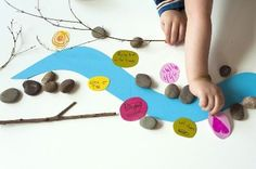 """Fun idea for creating a """"poetry river"""" with kids by @Joel Henriques"""