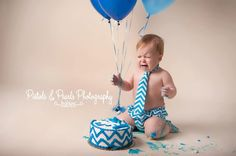 Baby Boy Tie and Diaper cover SET - Caribbean Blue Chevron
