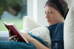 Woman With Cancer Reading A Book