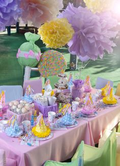 Carnival party: Be inspired by this fairground extravaganza complete with piñatas and all the traditional treats you'd find at the fair – streamers, balloons, mini toffee apples, doughnuts and lemonade.