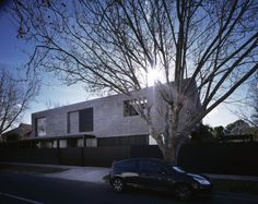 The Seacombe Grove House is a minimalistic two-storey residence that has been designed by B.E Architecture in Melbourne, Australia.