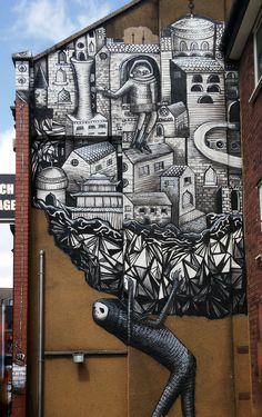 Phlegm - from The Secret Lives, Hidden Guises Issue Graffiti, 3d Street Art, Secret Life, Public Art, Sheffield, Creative Inspiration, Street Photography, Mount Rushmore, Urban