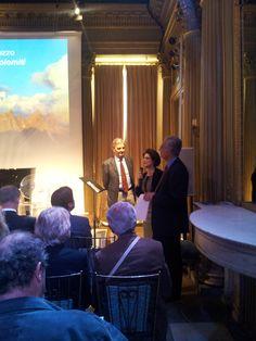 Stefano Illing, Presidente di #Cortina Turismo e gli storici Daniele Ravenna e Giuseppe Severini.