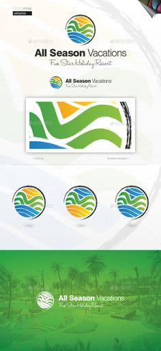 All Season Vacation - Logo Design Template Vector #logotype Download it here: http://graphicriver.net/item/all-season-vacation/1177576?s_rank=77?ref=nesto