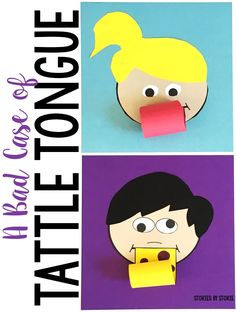 Is tattling a problem with your students? Take a look at A Bad Case of Tattle Tongue by Julia Cook. After reading, students can create these tattle tongue kids and write about the difference between tattling and reporting.