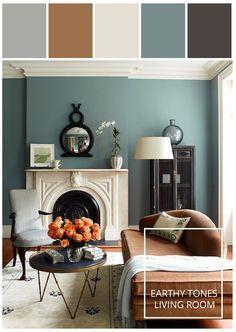 Motivation Monday   Blue Green Living Room #paint #color #stylyze - I really like the greenish