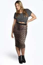 Georgina Leopard Print Midi Skirt