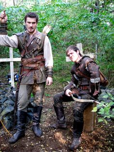 funny brothers, Archer (Clive Standen) & Robin (Jonas Armstrong) - bbc Robin Hood
