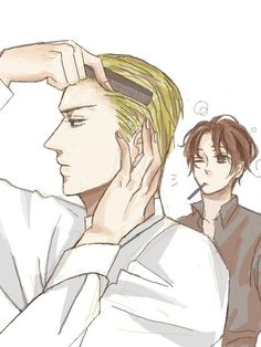 Morning routine. Italy finds out just how much time Germany puts into his hair...that has to take a lot of effort, but then again he's so proficient.