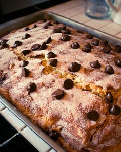 Chocolate Chip Sour Cream Cake | thetwentyten.com | #chocolate #cake