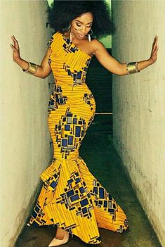 African Fishtail Dress,African Clothing For Women,African Maxi Dress,African Prom Dress,African Prin