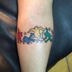 Keith Haring tattoo