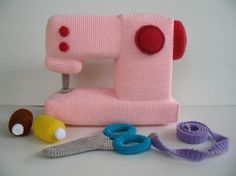 Crochet Pattern SEWING MACHINE Toys PDF by skymagenta on Etsy