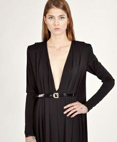 Bowie Belted Maxi Dress by AQ/AQ