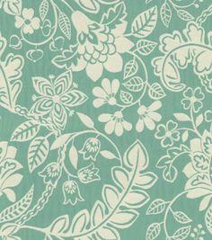 Upholstery Fabric-Waverly Garden Flurry PoolUpholstery Fabric-Waverly Garden Flurry Pool,