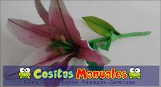 Flores de lirios En Foamy - Lili Daza Diseño