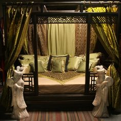 """Maybe not a four poster bed like this, but I like the """"gateway"""" to enter the bed."""